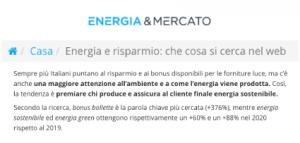energia e Mercato